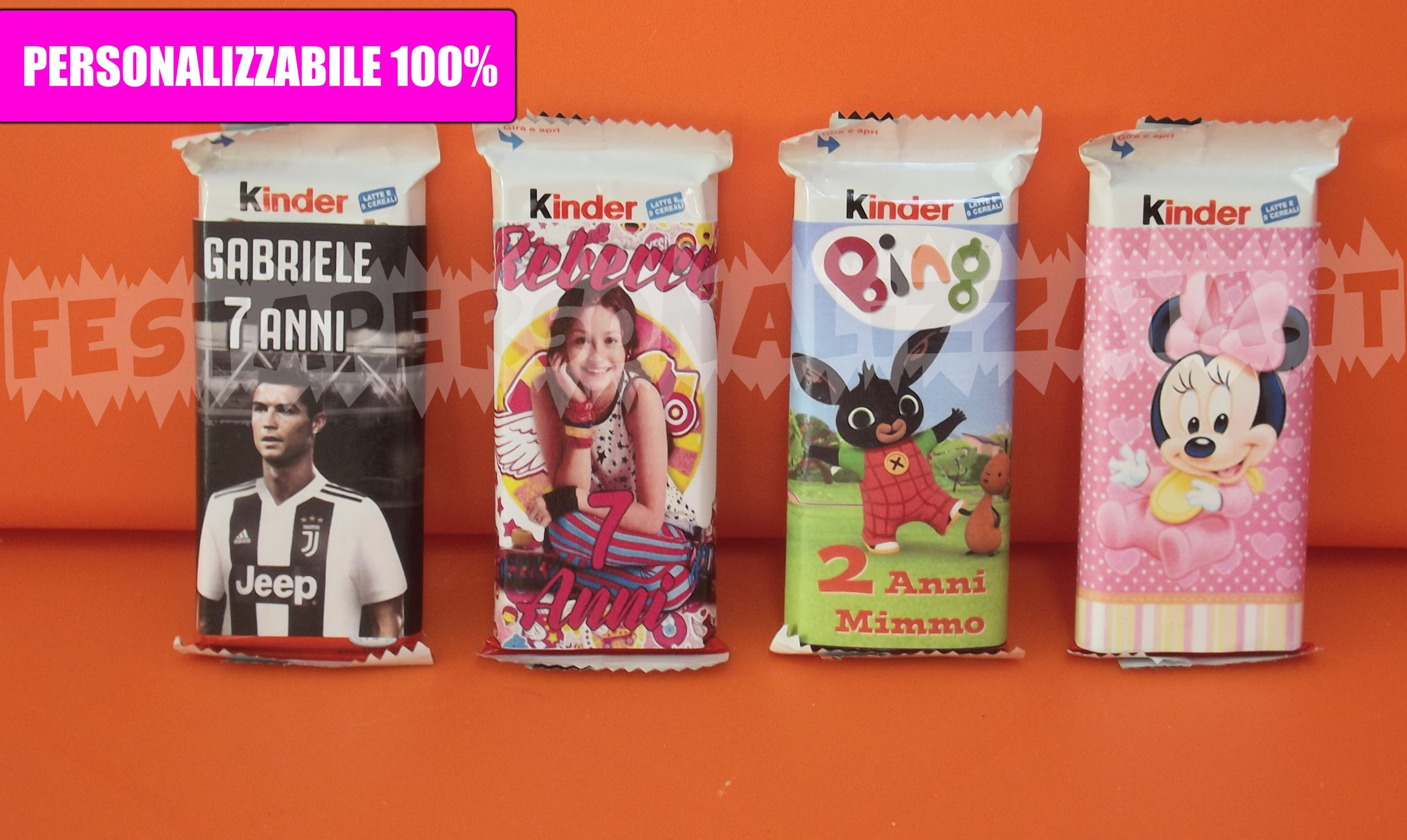 Kinder Cereali personalizzabile esternamente con stampa a colori