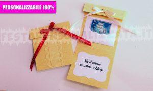 Portabiglietto per regalo personalizzato 100%