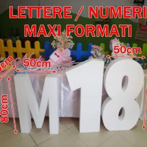 Lettere o numeri in polistirolo alti 1 metro per grandi eventi