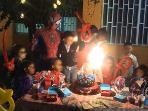 Allestimento completo Spiderman