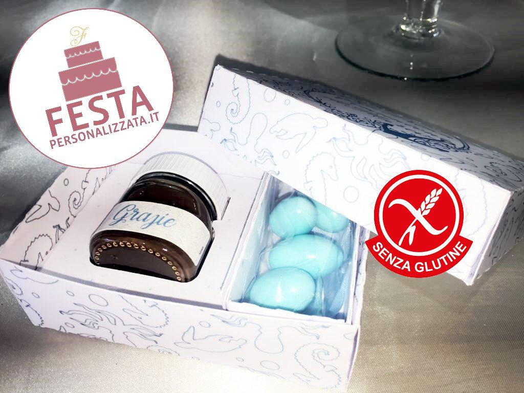 Box personalizzato con nutellina e confetti senza glutine
