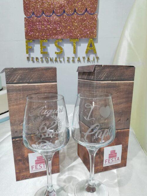 Bicchiere personalizzato per compleanno con numero anni