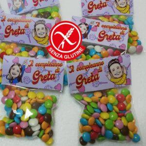 Sacchettini di smarties personalizzati senza glutine