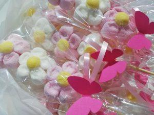 Marhmallow in spiedino personalizzato con tag personalizzabile