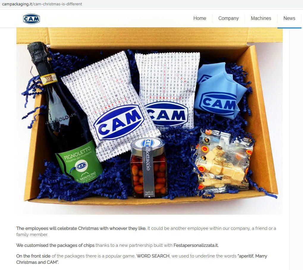 Box per CAM Automatic Packaging Machine